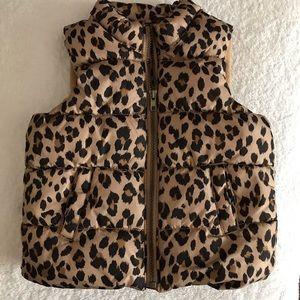 EUC girls leopard print vest. Old Navy. 3T